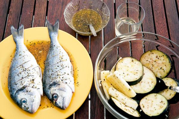 ryba na grillu